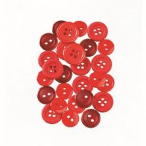 Knopf, Red, 10 - 15 mm, 40 g, rotmix