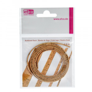Kork Band flach, 100 cm, 3 mm