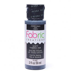 Fabric Creations™ Stempelfarbe, 59 ml, black